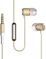 Наушники-гарнитура Deppa Stereo Alum Pro / 44152 (золото) -