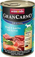Корм для собак Animonda GranCarno Original Adult с говядиной и лососем со шпинатом (400г) -