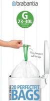 Пакеты для мусора Brabantia PerfectFit G 23-30л / 246265 (20шт, белый) -