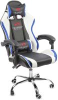Кресло геймерское Calviano Ultimato (черный/белый/голубой) -