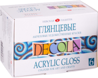 Акриловые краски Decola Глянцевые / 2941024 (6шт) -