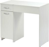 Туалетный столик с зеркалом MFMaster Риано-03 / МСТ-ТСР-03-БТ-02 (белый) -