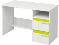 Письменный стол Аквилон Эко №17 (рамух белый/лайм) -