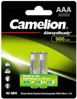 Комплект аккумуляторов Camelion AAA-900-BP2 NH Always Ready (2шт) -