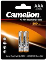 Комплект аккумуляторов Camelion NH-AAA 800BP2 (2шт) -
