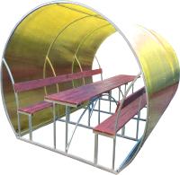 Беседка КомфортПром Пион 3м с покрытием (бронзовый) -