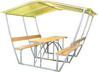 Беседка КомфортПром Тюльпан 3м с покрытием (жёлтый) -