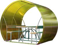 Беседка КомфортПром Пион 2м с покрытием (жёлтый) -