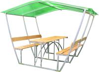 Беседка КомфортПром Тюльпан 2м с покрытием (зелёный) -