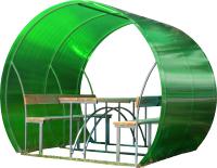 Беседка КомфортПром Пион 2м с покрытием (зелёный) -