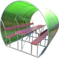 Беседка КомфортПром Пион 3м с покрытием (зелёный) -