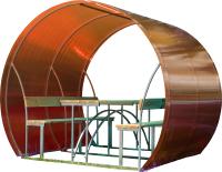 Беседка КомфортПром Пион 2м с покрытием (красный) -
