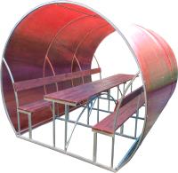 Беседка КомфортПром Пион 3м с покрытием (красный) -