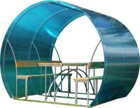 Беседка КомфортПром Пион 2м с покрытием (синий) -