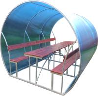 Беседка КомфортПром Пион 3м с покрытием (синий) -