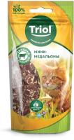Лакомство для кошек Triol Мини-медальоны из говядины с треской / 20171025 (40г) -
