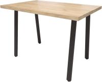 Обеденный стол Millwood Лофт Леон Л 130x80x75 (дуб золотой Craft/металл черный) -