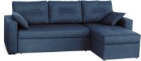 Диван угловой Мебель-Парк Торонто 1 Evolution 12 Navy рогожка (темно-синий) -