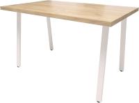 Обеденный стол Millwood Лофт Леон Л 130x80x75 (дуб золотой Craft/металл белый) -