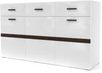 Комод SV-мебель МС Соло К (белый/белый глянец/венге) -