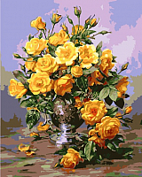 Картина по номерам Picasso Букет желтых роз (PC4050400) -