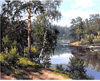 Картина по номерам Picasso Лесная река (PC4050401) -