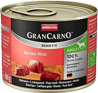 Корм для собак Animonda GranCarno Sensitiv Adult с говядиной (200г) -