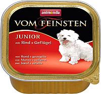 Корм для собак Animonda Vom Feinsten Junior с говядиной и мясом домашней птицы (150г) -