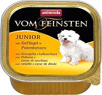Корм для собак Animonda Vom Feinsten Junior с мясом домашней птицы и сердцем индейки (150г) -