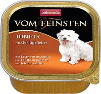 Корм для собак Animonda Vom Feinsten Junior с печенью домашней птицы (150г) -