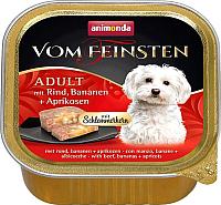 Корм для собак Animonda Vom Feinsten Adult с говядиной, бананом и абрикосами (150г) -