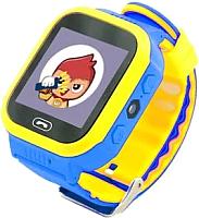Умные часы детские Wise WG-SW24 (синий/желтый) -
