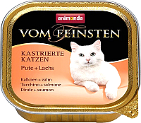 Корм для кошек Animonda Vom Feinsten castrated с индейкой и лососем (100г) -