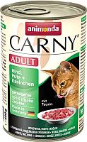 Корм для кошек Animonda Carny Adult с говядиной, индейкой и кроликом (400г) -