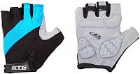 Перчатки велосипедные STG Х66457-М (M, черный/голубой) -