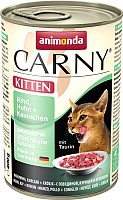 Корм для кошек Animonda Carny Kitten с говядиной, курицей и кроликом (400г) -
