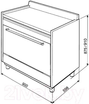 Кухонная плита Smeg SCD91CMX9