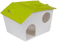 Домик для клетки Voltrega 0315945 (белый/зеленый) -