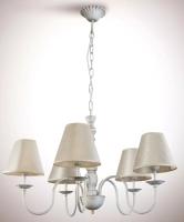 Люстра N&B Light Сабрина 8405 (белый/золото/патина/дерево) -