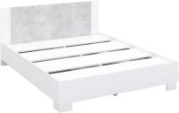 Двуспальная кровать Империал Аврора 160 с основанием (белый/ателье светлый) -