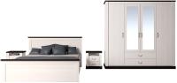 Комплект мебели для спальни Интерлиния Тауэр-8 (вудлайн кремовый/дуб венге) -