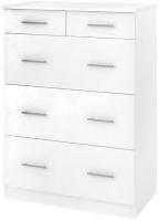 Комод Кортекс-мебель Модерн 80-5ш (белый) -