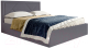 Каркас кровати Мебельград Сиеста Стандарт 140x200 (альба темно-серый) -