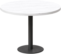 Обеденный стол Millwood Лофт Хельсинки 4 Л D900x750 (дуб белый Craft/металл черный) -