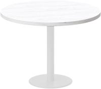 Обеденный стол Millwood Лофт Хельсинки 5 Л D1000x750 (дуб белый Craft/металл белый) -