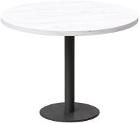 Обеденный стол Millwood Лофт Хельсинки 6 Л D110x750 (дуб белый Craft/металл черный) -