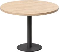 Обеденный стол Millwood Лофт Хельсинки 6 Л D110x750 (дуб золотой Craft/металл черный) -