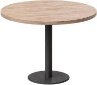 Обеденный стол Millwood Лофт Хельсинки 6 Л D110x750 (дуб табачный Craft/металл черный) -