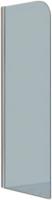 Стеклянная шторка для ванны Стеклоконтакт 8F-1500х700 (прозрачное стекло) -