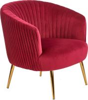 Кресло мягкое Halmar Crown (бордовый/золото) -
